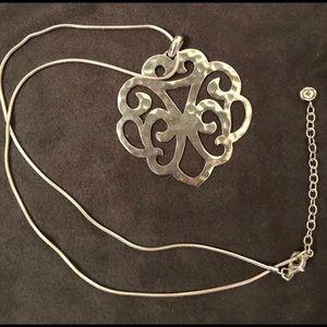 Silpada .925 Hammered Silver Filigree Pendant